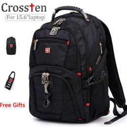 Wholesale Bag For Inch Phone - Wholesale- Top quality Swiss Multifunctional laptop bag Backpack for 15.6 inch laptop Schoolbag Travel Bags 8112
