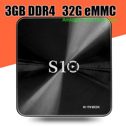 Wholesale Dual Lan - 6PCS!! R Box S10 Android 7.1 TV Box S912 Octa Core DDR4 2GB 3GB 16GB 32GB KD 17.3 Amlogic Dual Wifi 1080P 4K 1000M LAN Media Player T95Z TX2