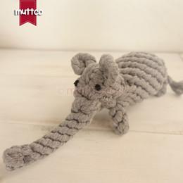 Wholesale Elephant Toys - wholesale cute elephant dog toy cotton rope toy dog pet toy DRT-002