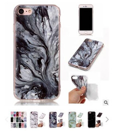 Wholesale Paint For Stone - DHL free Soft TPU Case for iphone 5s 5 SE 6 6s 6plus New Arrival Granite Scrub Marble Stone image Painted Phone Case For iphone 7 7plus