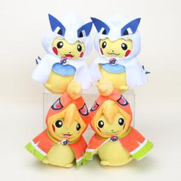 "Wholesale Stuffed Lugia - Hot ! 4pcs Lot 8.5"" 22cm Pikachu plush toys Pikachu Cosplay Ho-Oh & Lugia Poke Pocket Monsters Plush Doll Stuffed Toy 081"
