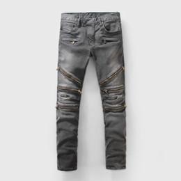Wholesale Mens Top Coat Slim Fit - SS18 Skinny Slim Fit Washed Coating material Luxury Denim Elastic Motorcycle Mens BM923 Jeans Designer SZ28-40 Top Men jeans