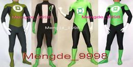 Lanterna verde costume lycra online-New 4 Style Superhero Lantern Costumes Unisex Lycra Spandex Fancy Green Lantern Body Suit Catsuit Costumi Halloween Cosplay Suit M129