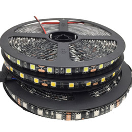 Wholesale Pcb Rgb - Green Blue Red Warm White Led Strip Black PCB 5050 RGB Light Strips 12V Waterproof Non-Waterproof 5M 300 LEDs 5m roll In Stock