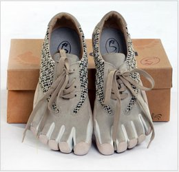 Wholesale Fingers Shoes - Women 5 Toe Shoes Men Casual Shoes Five Finger Dive Climbing Breathable Shoes Size Eur 40-45