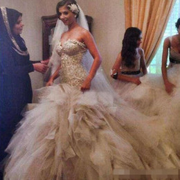 Wholesale Satin Corset Bodice Wedding Gown - Luxury Real Image Cathedral Train Wedding Dress 2016 Strapless Sweetheart Mermaid Bridal Gowns Beaded Pearls Exquisite Appliques Top Corset