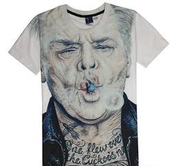 Wholesale slim style shirt for men - Summer Funny Style 3D Printing Men T-shirts Old Men Smoking Cool Style T-shirt For Men Cotton Short Sleeve Slim Fit Design T-shirt J160145