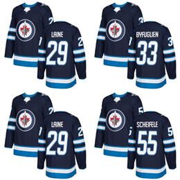 Wholesale New Jersey Jets - #29 Patrik Laine 2017-2018 New Season Winnipeg Jets Jersey Mens 26 Blake Wheeler 33 Dustin Byfuglien 55 Mark Scheifele Hockey Jerseys