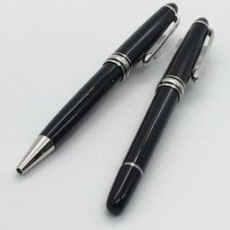 Wholesale free serial - free shipping -- Good quality mb-163 Classique Black resin ballpoint pen, office suppliers ball pen with serial number for writing