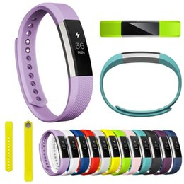 Wholesale Reloj Silicone - Wholesale-High Quality Durable Luxury Silicone Watch Replacement Bands Straps For Fitbit Alta Smart Watch Correa Reloj Free Shipping 2016