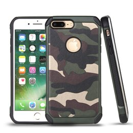 Wholesale Pouch Hard Shell Case - Military Camouflage Case For iphone 7 6 6s plus 5 5s se TOUCH6 2in1 Hybrid Plastic and TPU Hard Cover Armor Protector Shell
