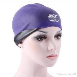 Wholesale Unisex Shower Caps - Wholesale 2017 Adult Swimming Cap Surf Hat Protect Ears Shower Cap Unisex Swim Cap Use With Both Sides Free Shipping
