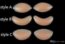 Sutiã de silicone inserir filé de frango on-line-1000 Pcs Mama Filé De Frango Filetes De Silicone Amadores Mama Almofada de Inserção de Sutiã OPP Saco Pacote almofada de peito de Silicone