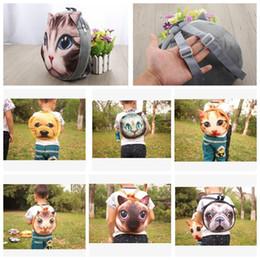 Wholesale Back Bag Kids - Kids 3D animal book bag school bags for kindergarten cat dog back pack Alice Children Bags Backpack 6 design LJJK807