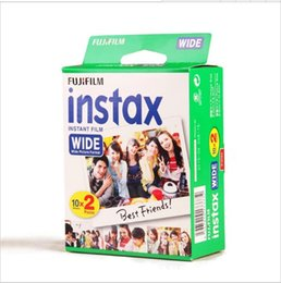 Wholesale Sheets Protectors - 20 Sheets Fujifilm Instax Wide VALID UNTIL 2019-2 +Free 1 Wall Album + 20 Photo Protector For Polaroid Instax Camera 300 200 210