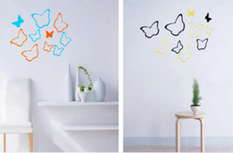 Wholesale Butterflies Bedding - 3D Creative Removable butterfly wall sticker for child room  living room  bed room decoration 6pcs factory price free shipping