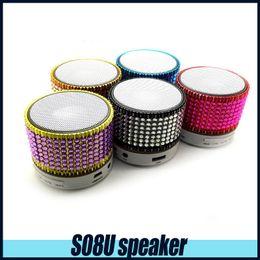 Wholesale Usb Cannon - S08U Bluetooth speaker mini portable LED lighting wireless speaker sound card mobile phone speaker cannon free shipping