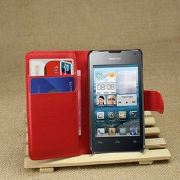 Wholesale Huawei Ascend Flip Case - Luxury PU Leather Wallet Stand case For Huawei Ascend Y300 U8833 T8833 Flip Cover Phone Bag with Card holder