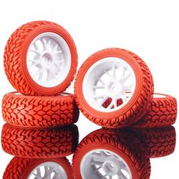 Автомобильные шины для ралли онлайн-RC HSP 907W-8019 Красный Rally Tires Колесные диски 4P для 1:10 On-Road Rally Car