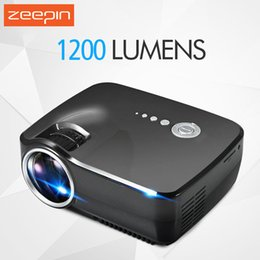 Discount android led lcd - Wholesale-Original EMP GP70 Mini Portable LED LCD TV Projector 1200 Lumen 1080P Video Cinema Projector Wifi Android Home Theater Projector