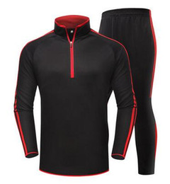 Wholesale Man Knitting Clothes - 2017 New style Recreational outfit Football training suit High quality The game Football clothes pants size 22-30