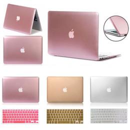 Wholesale Laptop Cover Case Keyboard - Metallic Rubberized Hard Case Keyboard Cover fo Macbook Pro 13 15 Air 13 11 Inch