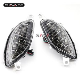 Wholesale Brown Indicator - For SUZUKI GSX1300R HAYABUSA 1999-2007 Clear Motorcycle Accessories LED Turn Signal Indicator Lights Blinker Lamp High Quality