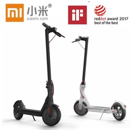 Lg elettrico online-Xiaomi Scooter Mijia M365 Smart Electric Foldable Scooter 2 Wheels Hoverboard Oxboard 30km mileage LG Battery Kick Scooters