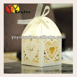 Wholesale Laser Cut Favor Boxes Bird - Wholesale- high quality laser cut customized centerpieces favor paper small laser cut heart birds wedding box with free name logo