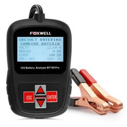 FOXWELL BT100 Pro 12V Probador de batería de coche digital para Flooded, AGM, GEL Analizador de batería automotriz de 12 voltios desde fabricantes