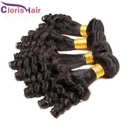 Wholesale Nigerian Hair - 2017 Latest Nigerian Aunty Funmi Hair Unprocessed Brazilian Human Hair Extensions Cheap Bouncy Spiral Romance Curls Weave 3 Bundles