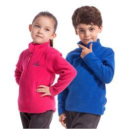 Wholesale Girls Outdoor Long Jackets - Wholesale- 2016 New Autumn Fleece Jackets For Girls Boys Sports Hoodies 4-12Y Children's Brand Warm Long Sleeve Sweatshirts Outdoor SC575