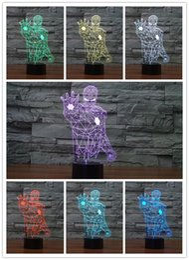multi luzes coloridas noite Desconto Frete Grátis 1 Peça Homem De Ferro 3D Luz Da Noite LEVOU Luz Mesa Multi-colorido Polícia Caixa de Lâmpada Home Decor