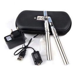 Wholesale E Cigar Case - Hot sale eGo CE4 double kits E cigars with CE4 atomizer colorful zipper case 650 mAh 900mAh 1100mAh Free Shipping