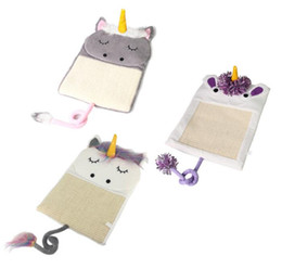 Wholesale Shape Pet Toys - Unicorn Shaped Scratcher Cat Scratch Board Pad Claws Care Toys Pet Bed Mat cat Interactive play Toy LJJK781