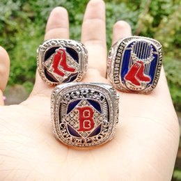Wholesale Red Sox Championship Ring - 2004 2007 2014 Boston Red Sox World Series Championship Ring for men jewelry wholesale Free shipping New Sport Fans Drop Shipping
