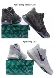 Wholesale Cheap Synthetic Weave - New Arrival Kyrie Irving III Weave Mens Basketball Shoes With Discount Fashion Kyrie 3 Athletics Sports Cheap Irving Sneakers