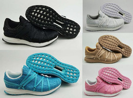 Wholesale 3d Printed Fabric - 2018 Ultra Boost Birds Nest Custom Running Shoes Mens Women 3D Printed Black White Ultraboost Brand Designer Boots Trainer Sneakers 36-44