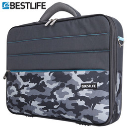 Wholesale Tablet Case Shoulder Bag - BESTLIFE 2016 Business 15.6 Laptop Bag Case Men Computer Shoulder Notebook Tablet Briefcase With Stripe Belt Office Worker Use