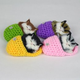 Wholesale Talking Animal Plush - Wholesale- Simulation Cat Plush Toy Talking Toys Slippers Furnishing Articles Call Animal Super Cute Doll Birthday Gift Lovely Decoration