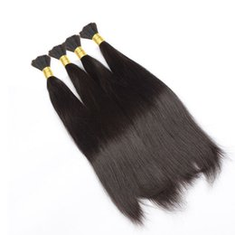 Wholesale Straight Bulk Hair For Braiding - 8A Brazilian Human Hair Bulk For Hair Extensions Silky Straight 12-30inch Brazilian Human Braiding Hair Drop Shipping