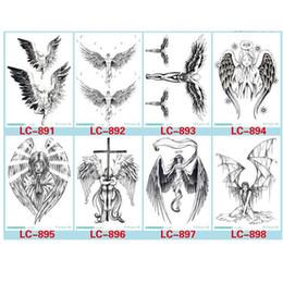 tatuagens de asas de anjo Desconto Diabo Buraco Fria Asas Tatuagem Desenhos Tatuagens Temporárias Homem Com Os Anjos Do Demônio Asa Corpo Moderno Tatuagem 8 Estilos Diferentes