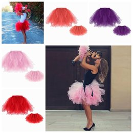 Wholesale Wholesale Winter Women Clothes - 2017 mother and daughter clothes family matching clothes baby girls tutu skirt sets toddler skirts for women mommy daughter clothing pettisk