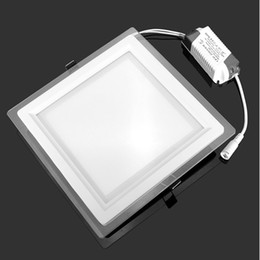 Wholesale Epistar Chip Led Downlight - Panel lig6w 12w 18w led glass panel downlight square panel light Epistar SMD 5630 chip AC85-265V ceiling recessed lamp high brightness 100lm