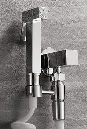 Wholesale Toilet Bidet Free Shipping - Free shipping Bidet Faucets,High Pressure Bidet Shower,Toilet Handheld Brass Bidet Set,Bidet Taps Bathroom Shower Valve BD551