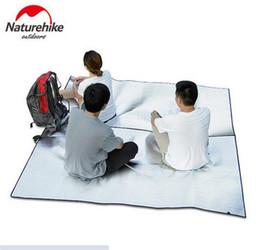 Wholesale Foam Sleep Mat - Wholesale- NatureHike Multifunctional Double Layer Aluminum Foil Outdoor Camping Mat Moistureproof Sleeping Pad Ground Sheet Tent Mat