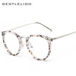 Wholesale Fake Glasses Frames - Wholesale- Vintage Oversized Round Glasses Frame For Women Men Eyeglasses Frames Men Clear Fake Glasses Eyewear Oculos Optical Frame 8128
