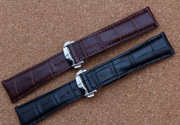 Wholesale Watch Leather Strap 19mm - New arrival 2017 Watchband Accessories 18mm 19mm 20mm 22mm High Quality Cowhide Leather Watch Straps for Brand Style Men Watches FREE SHIP