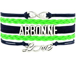 Wholesale Halloween Companies - Custom-Infinity Love Arbonne Isagenix Multilayer Wrap Bracelets Navy Blue Lime Green Leather Women's Fashion Company Jewelry Gift