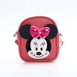 Wholesale Soft Plush Backpacks For Kids - 2017 lovely Style Mickey Minnie baby backpack mochila girls' school bags kids plush backpack mini bags for Birthday Christmas gift